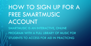 Sign up for SmartMusic