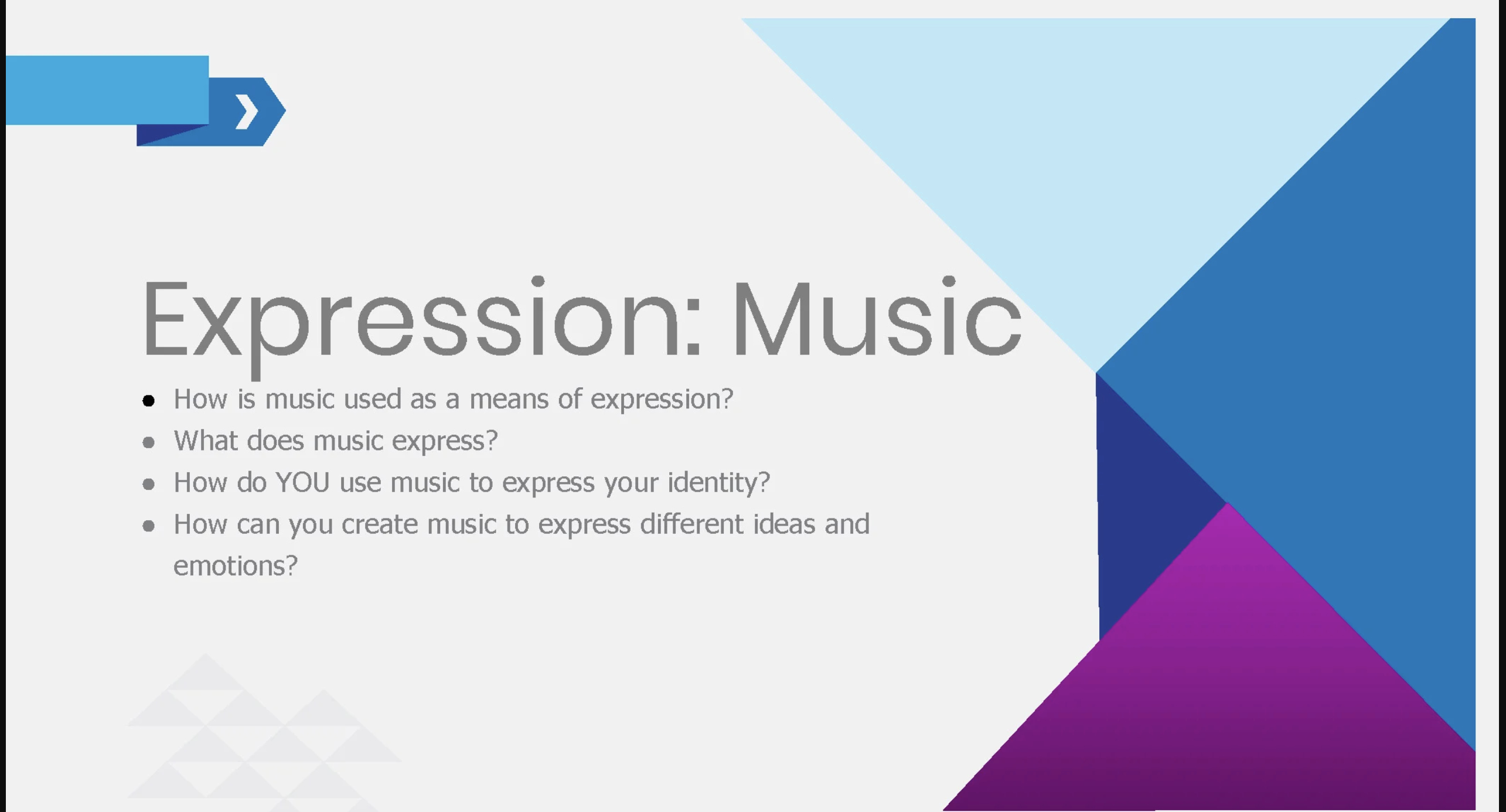 Expression Music Project