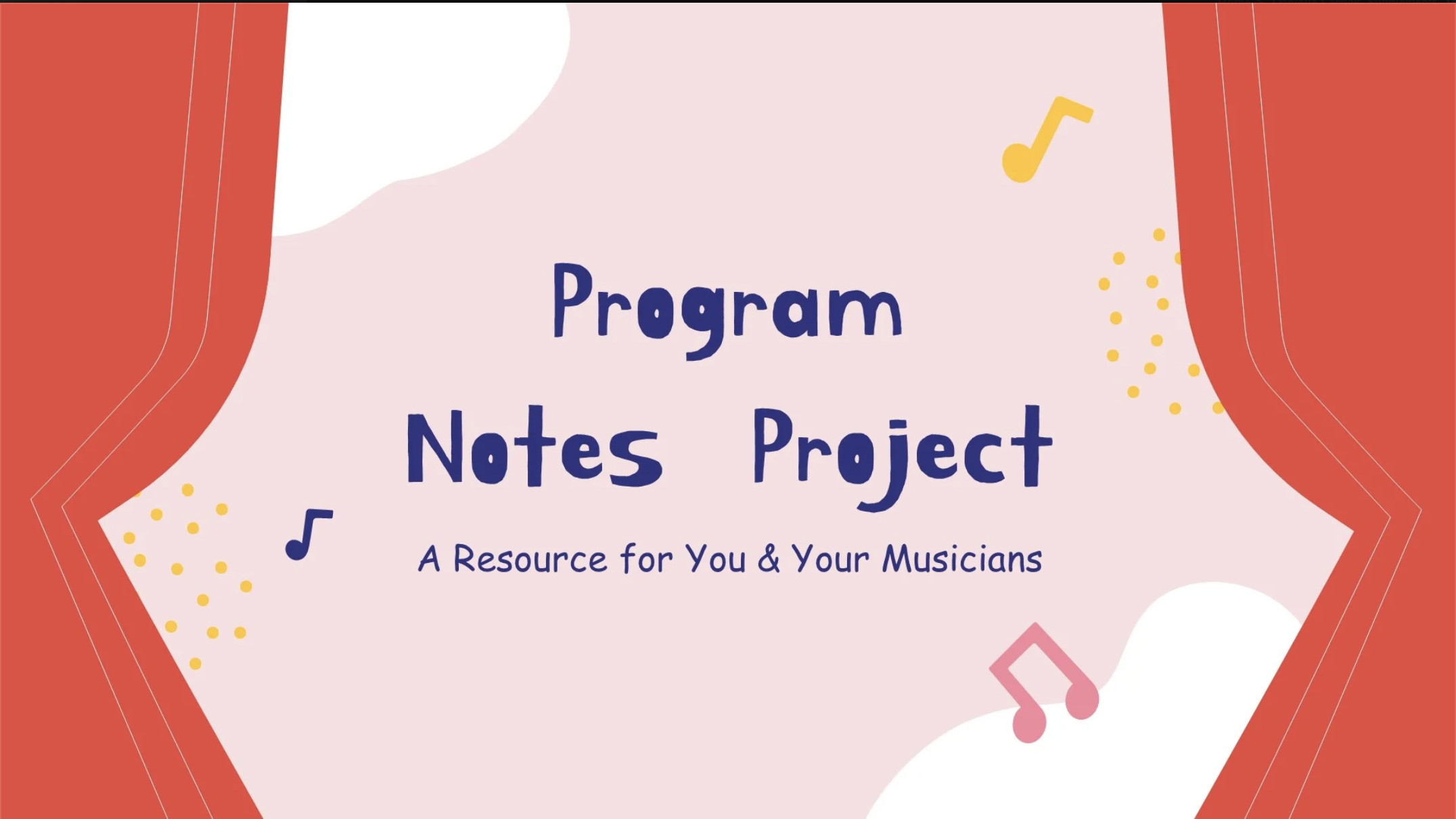 program notes project