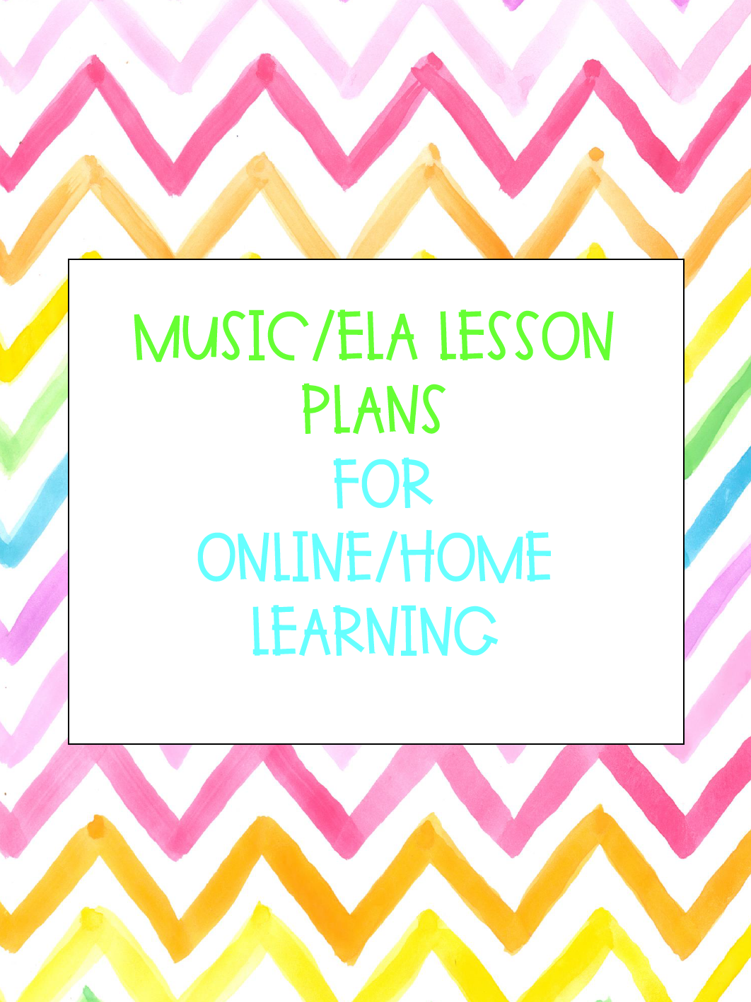 Music/ELA lesson plans for at home learning