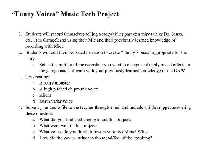 Music Tech Project
