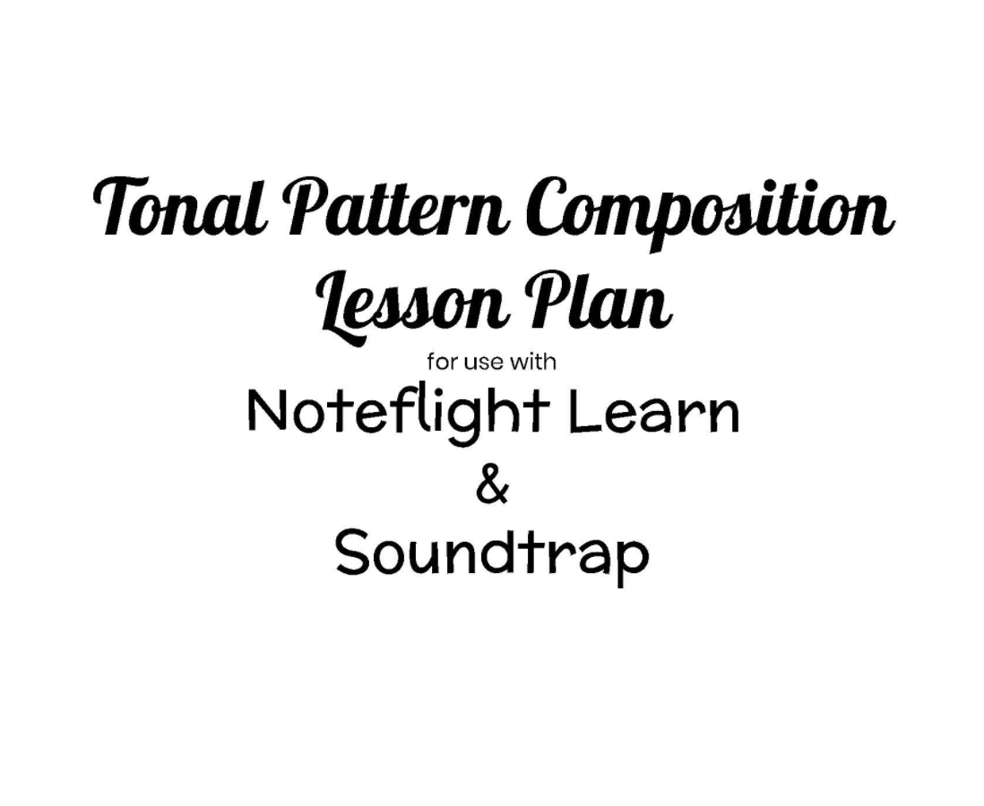 tonal pattern composition lesson