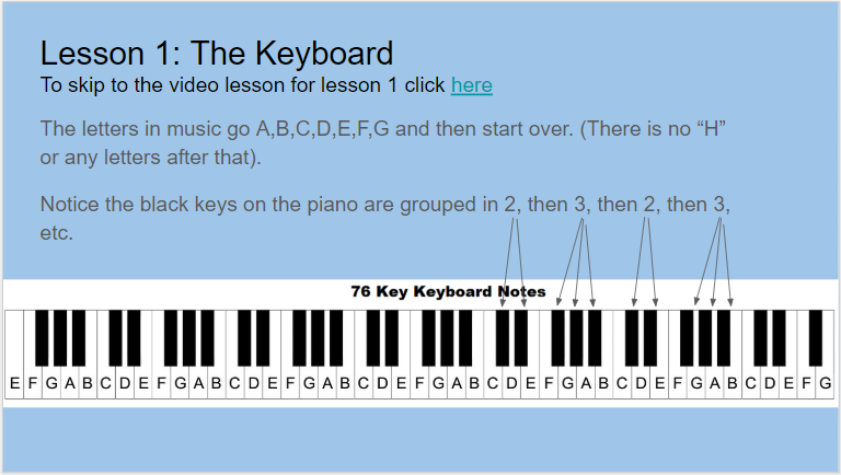 Piano Chords 101 slide